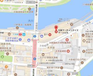 エンカレッジ天満橋地図